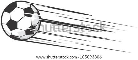 Creative Soccer Ball Illustration / Fast moving soccer ball - stock vector