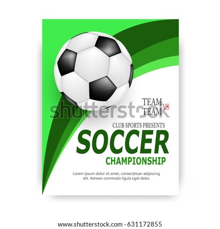 Creative Soccer Football Tournament Championship Game Stock Vector