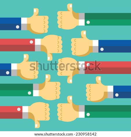 Creative Social Network Discussion Flat Illustration. Creative graphic design elements. Isolated on Trendy Aquamarine Background. - stock vector