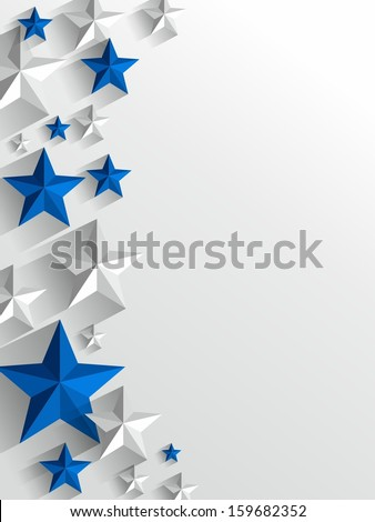 Creative Stars background vector illustration - stock vector
