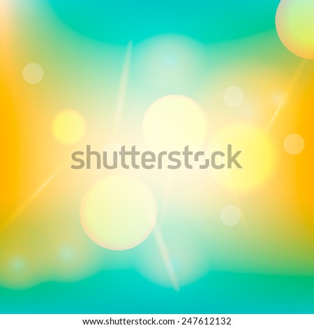 Creative summer background for Web and Mobile Applications  - stock vector
