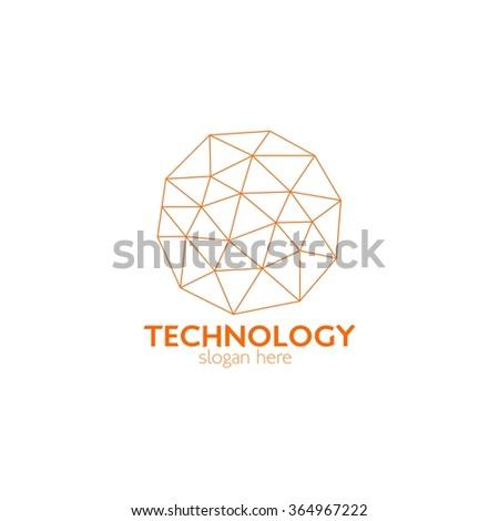 Creative Technology concept vector logo design template. Nano Tech Logo. Science technology abstract icon - vector logo. Vector Illustration - stock vector