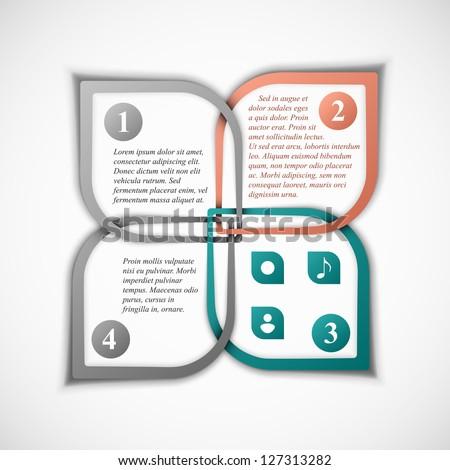 Creative template banner. Eps 10 - stock vector
