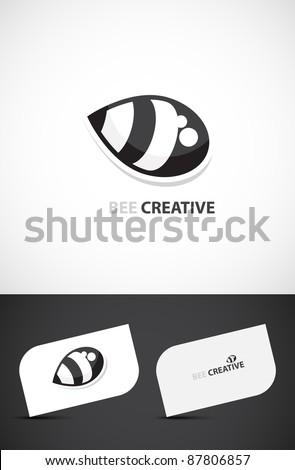 Creative template, Bee-creative concept, Vector EPS10. - stock vector