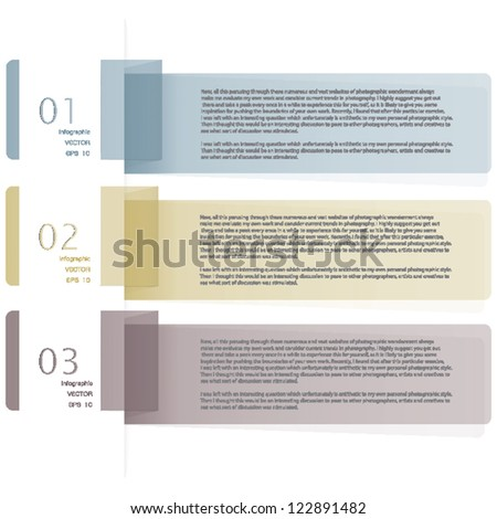 Creative Template ribbon banner / can be used for infographics / banners / concept vector illustration - stock vector
