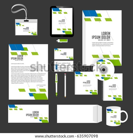 Creative Templates Office Stationery Creative Design Stock Vector Hd