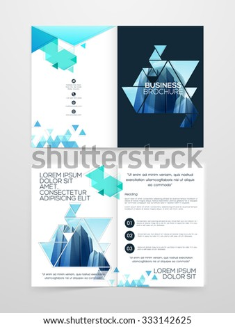Creative Two Page Professional Brochure Template Stock Vector - Two page brochure template