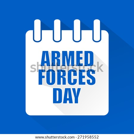 Creative vector abstract for Armed Forces Day with nice and beautiful blue colour background. - stock vector