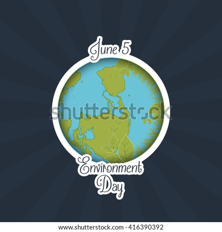 creative vector abstract for World Environment Day with nice Earth illustration in a creative background.