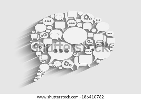 creative vector bubble speech background, eps10 concept or idea - stock vector