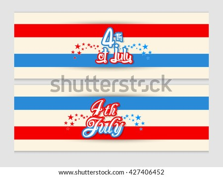 creative vector header or banner for 4th of July Independence Day of USA with nice and creative illustration in a background.