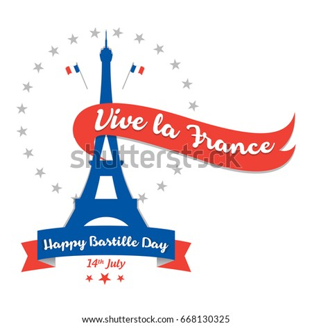 Creative vector illustration card banner poster stock vector creative vector illustration card banner or poster for the french national day happy m4hsunfo