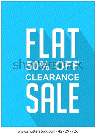 creative vector illustration of a clearance sale flyer with nice and beautiful design in a background.
