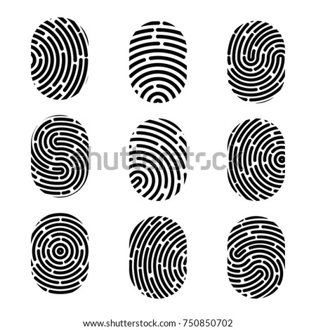 Creative vector illustration of fingerprint. Art design finger print. Security crime sign. Abstract concept graphic element. Thumbprint id.