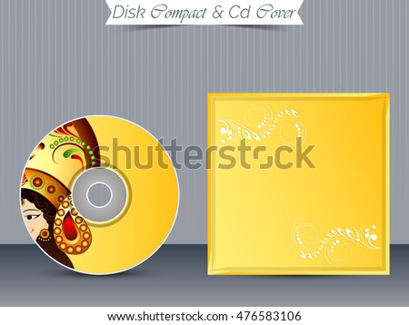 creative vector templates design for CD or DVD Case.