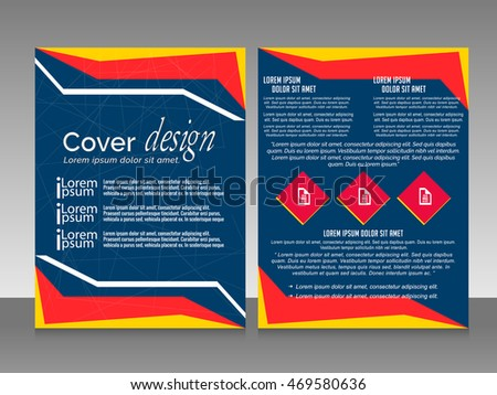 creative vector templates for Business Flyer with creative illustration in a background.