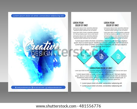 Vector modern flyer poster trifold brochure stock vector for Nice brochure templates