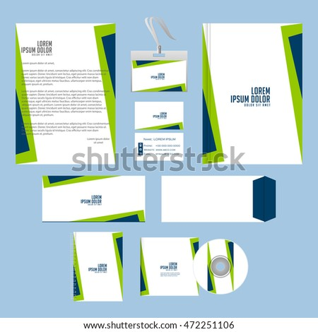 Stationery Template Design Corporate Identity Stock Vector ...