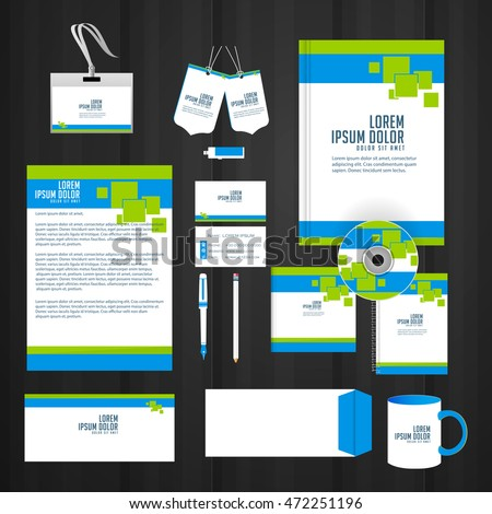 creative vector templates for Office Stationery with nice and beautiful design illustration.