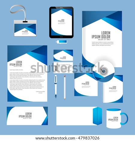 Office Stationery Design Templates | Creative Vector Templates Office Stationery Nice Stock Vector