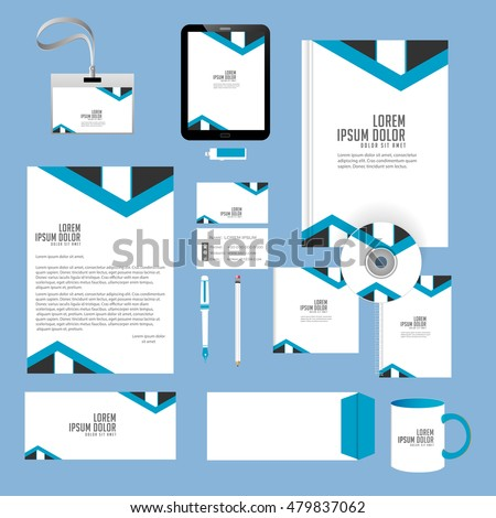 Creative Templates Office Stationery Creative Design Stock Vector ...