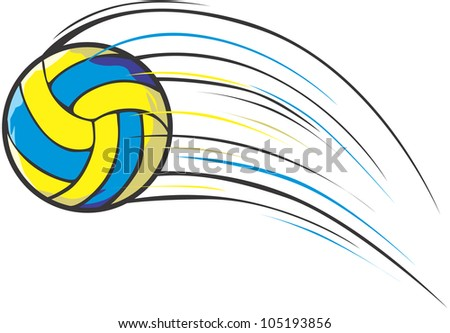 Creative Volleyball Illustration / Fast moving volleyball - stock vector