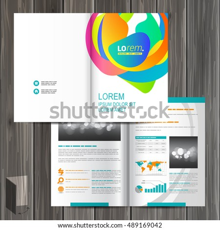Creative White Brochure Template Design Color Stock Vector 489169042