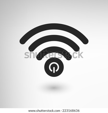 Creative WiFi icon with power element. EPS10 vector. - stock vector