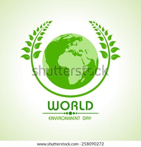 Creative World Environment Day Greeting stock vector - stock vector