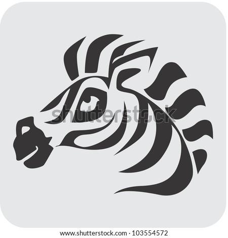 Creative Zebra Icon - stock vector