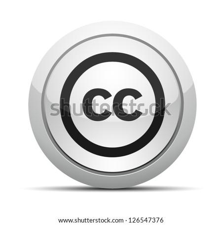 Creativecommons CC button - stock vector