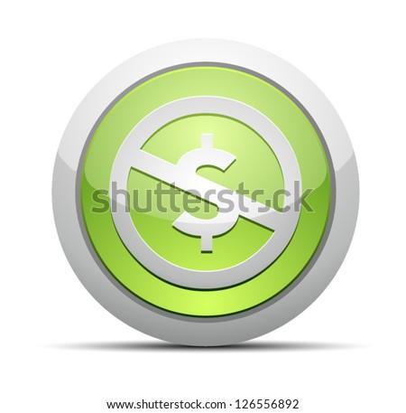 Creativecommons NS button - stock vector