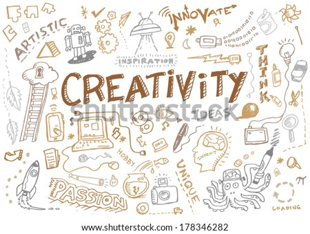 Creativity and Innovation Doodle Collection Vector - stock vector