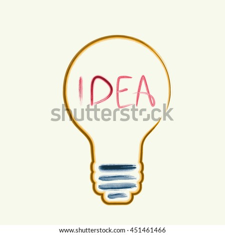 Creativity concept. Light bulb with watercolor Concept or creative thinking and unique ideas. Vector illustration - stock vector