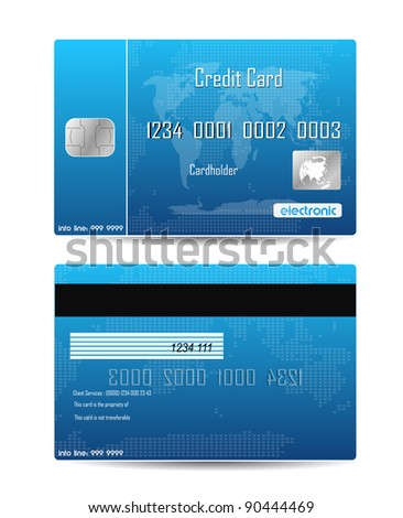 Credit Card Concept Isolated On White - stock vector