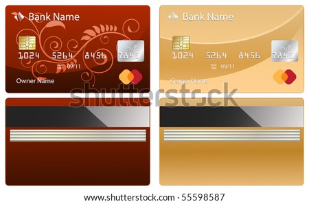 credit card design - stock vector