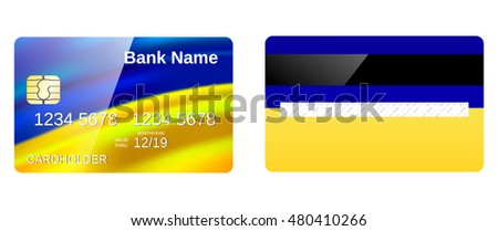 Credit card design and vector templet.