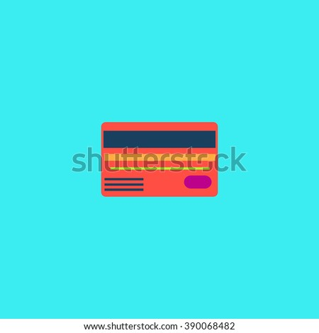 Credit card. Flat simple modern illustration pictogram. Collection concept icon for infographic project and logo - stock vector