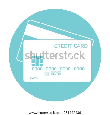 Credit card icon.