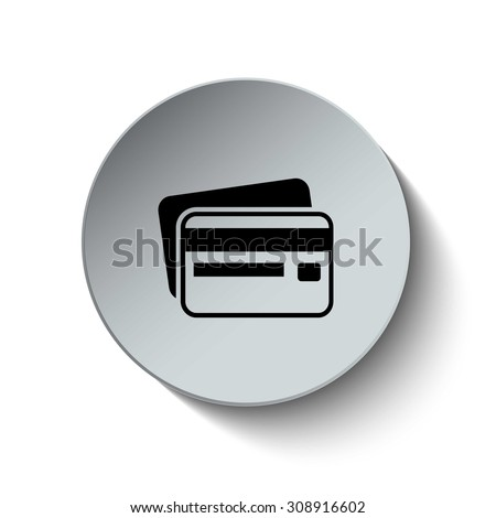 Credit card icon. Card icon. Payment icon. Vector Illustration. Button. EPS10 - stock vector