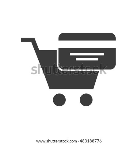credit card investment icon vector illustration design