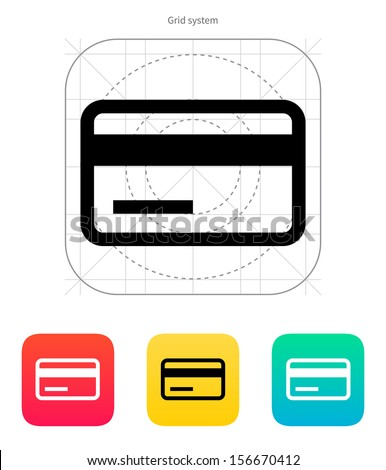 Credit card magnetic tape icon. Vector illustration. - stock vector