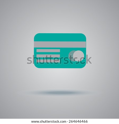 Credit, card, magnetic, tape, icon, vector, illustration  - stock vector