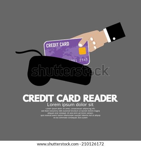 Credit Card Reader Vector Illustration - stock vector
