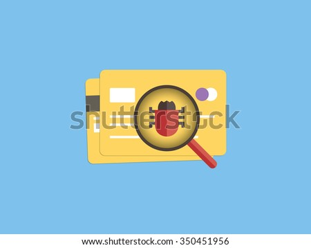 credit card security - stock vector