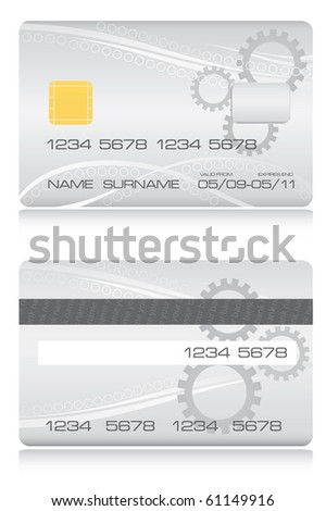 Credit card vector - stock vector
