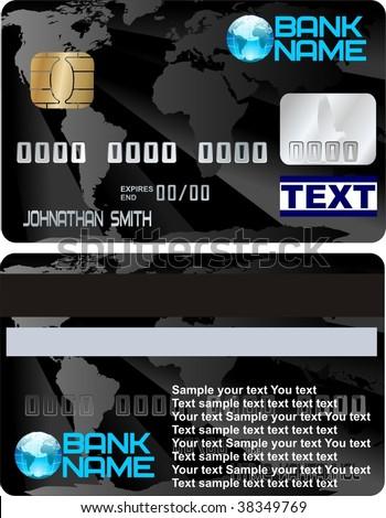 credit card vector design one - stock vector