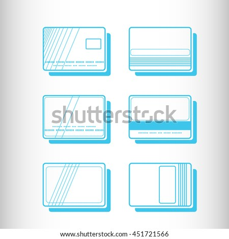 Credit Card. Vector icon. - stock vector