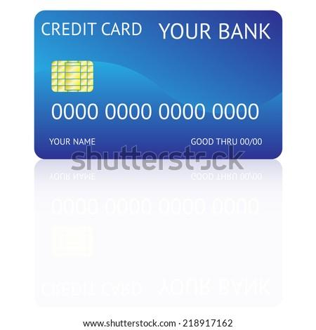 credit card, vector illustration - stock vector