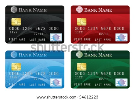 Credit cards - stock vector